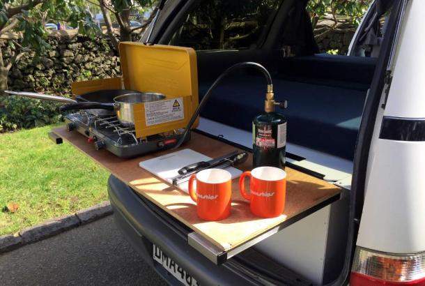 Beta 2S campervan Australia covered cooking