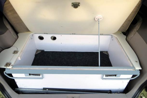 Beta 2S campervan Australia storage space