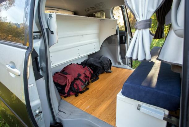 Dream Sleeper Mini campervan big storage space