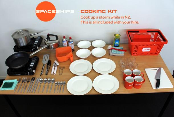 NZ Beta 2S campervan cooking kit